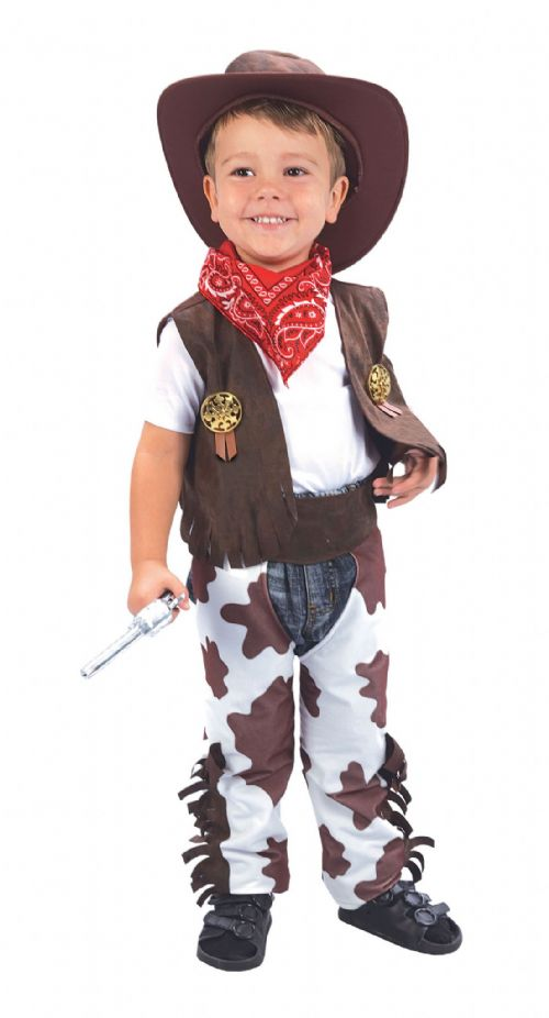 Boys Cowboy Toddler Costume American Wild West & Indians Fancy Dress Outfit